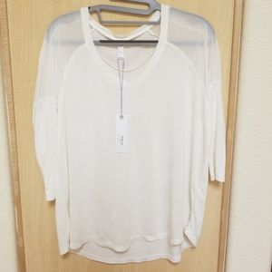 NWT Gentle Fawn 3/4 Sleeve Ivy Top. Size Small